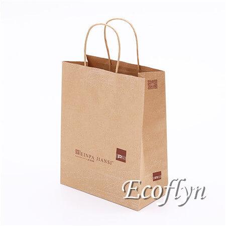 printed kraft paper shopping bags