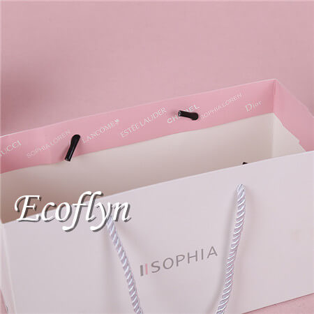 printed shopping bags white gift bags