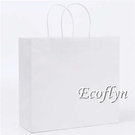 white paper shopping bags wholesale