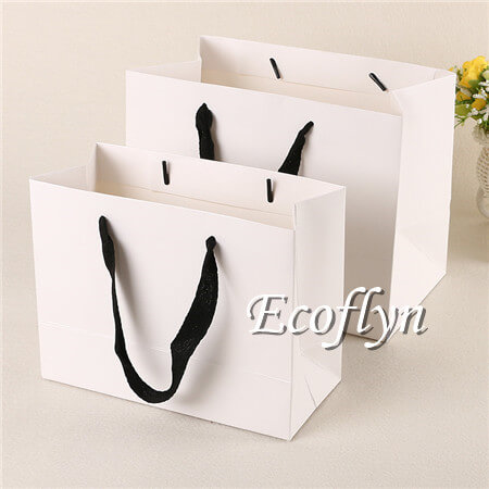 white shopping bag paper handle bags sale