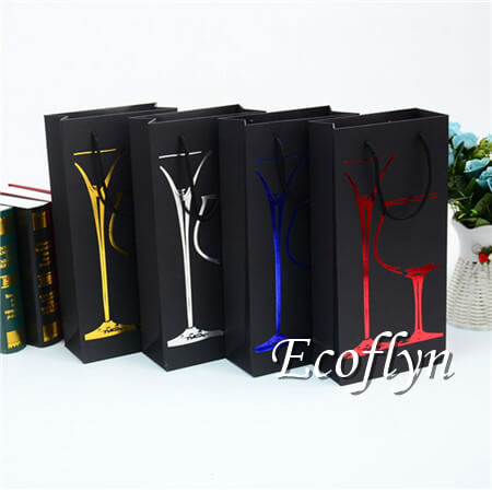 black paper wine bags with handles discount supply-Ecoflyn