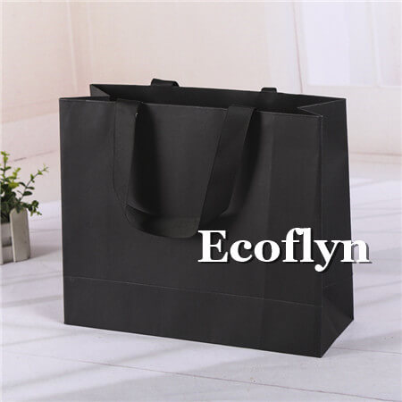 black shopping bags bulk sale