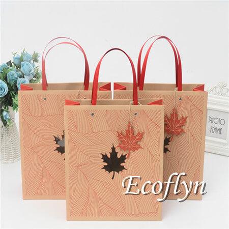 custom design red gift bags bulk sale-Ecoflyn