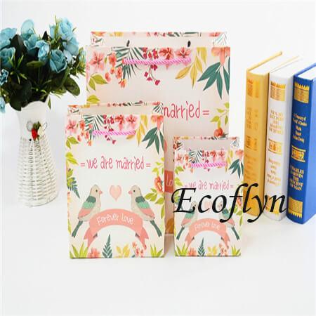 custom personalised wedding paper bags sale-Ecoflyn