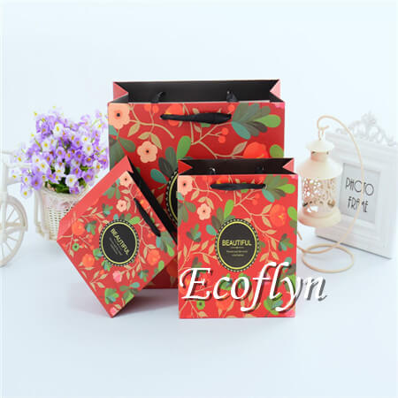 custom printed paper bags cheap-Ecoflyn