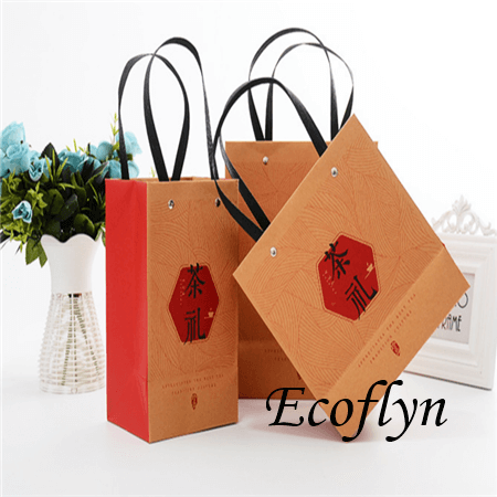 custom printed promotional paper bags with logo-Ecoflyn