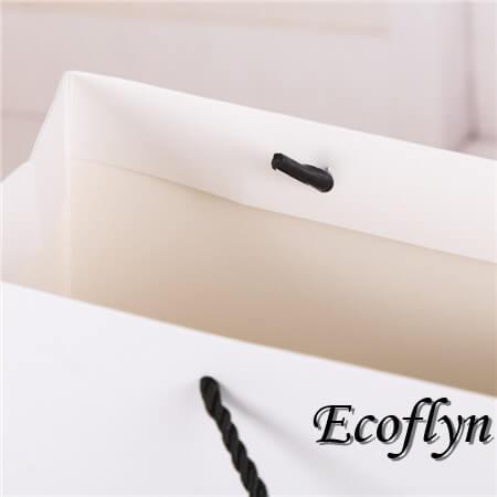 custom white plain paper bags tote bags