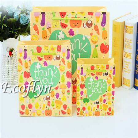 hot design thank you paper bags offer-Ecoflyn