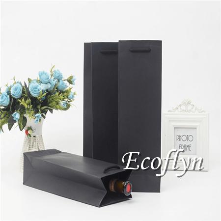 hot paper wine bags with handles bulk wholesale-Ecoflyn