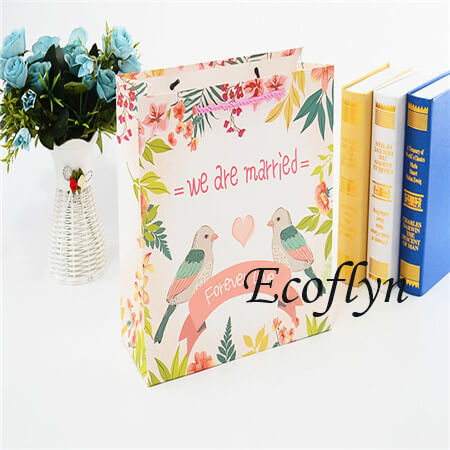 hot personalised wedding paper bags discount offer-Ecoflyn