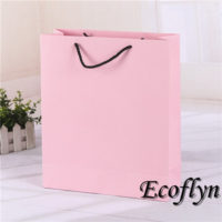 hot pink plain paper bags offering