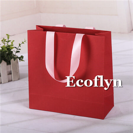 hot red shopping bags bulk