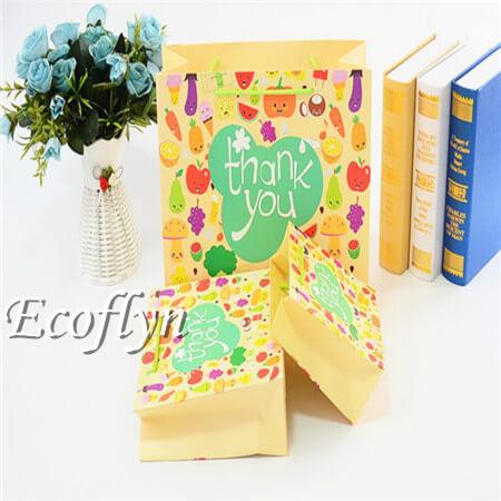 multi-sizes thank you paper bags bulk sale-Ecoflyn