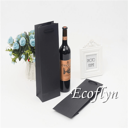 paper wine bags with handles bulk offer-Ecoflyn