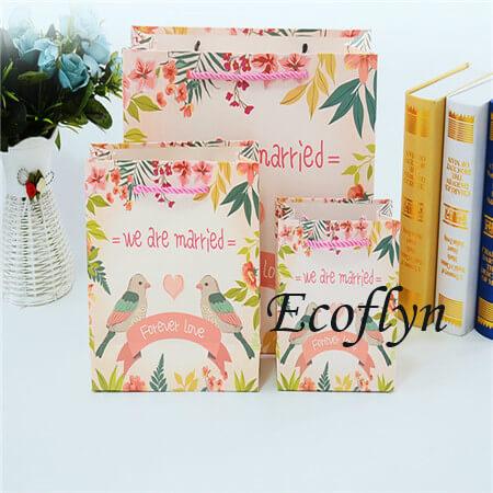 personalised wedding paper bags free sample-Ecoflyn