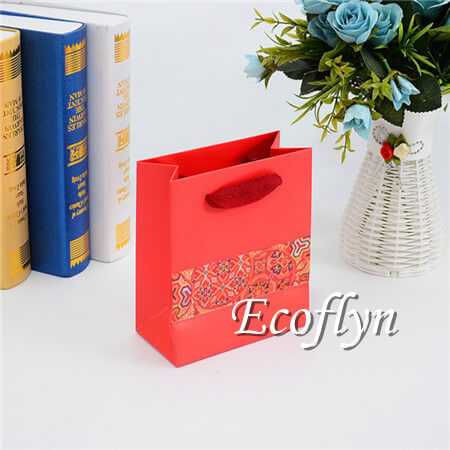 personalized red gift bags with handles-Ecoflyn