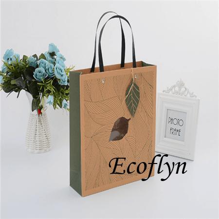 premium quality printed paper shopping bags-Ecoflyn