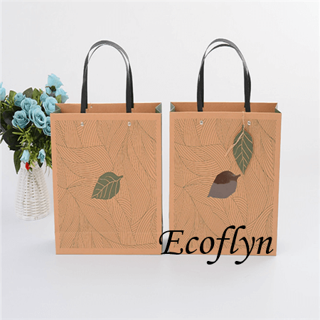printed paper shopping bags with clear windows