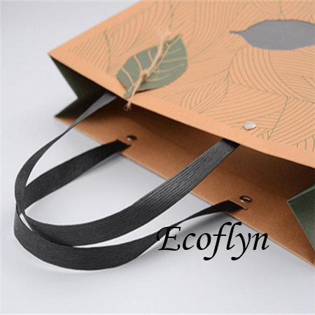 printed paper shopping bags with handles-Ecoflyn