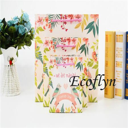 printed personalised wedding paper bags bulk supply-Ecoflyn