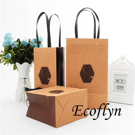 promotional paper bags with logo-Ecoflyn
