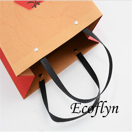 promotional paper bags with logo gift handle bags-Ecoflyn