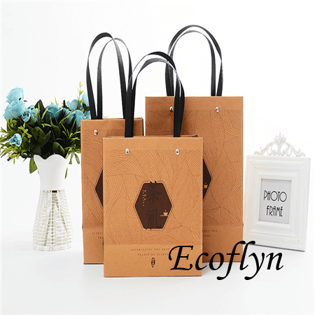 promotional paper bags with logo supplier-Ecoflyn