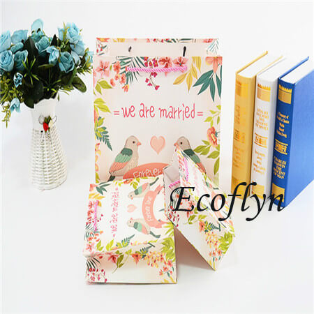 quality personalised wedding paper bags sale-Ecoflyn
