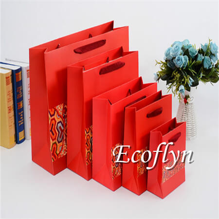 red gift bags with handles-Ecoflyn