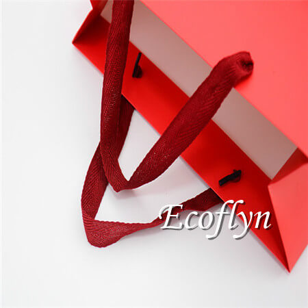 red gift bags with handles free sample-Ecoflyn