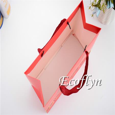 red gift bags with handles low minimum-Ecoflyn
