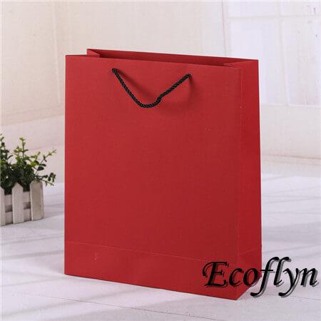 red plain paper bags sale