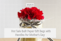 Hot Sale Bulk Paper Gift Bags with Handles for Mother's Day - Ecoflyn
