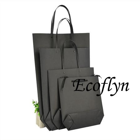 black paper shopping bags bulk offer - Ecoflyn