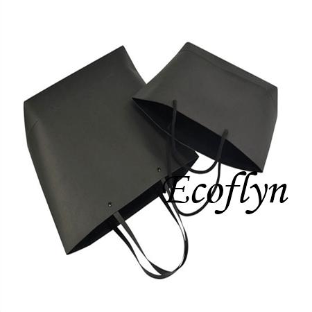 black paper shopping bags wholesale - Ecoflyn
