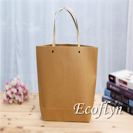 bulk brown personalized paper shopping bags supply-Ecoflyn