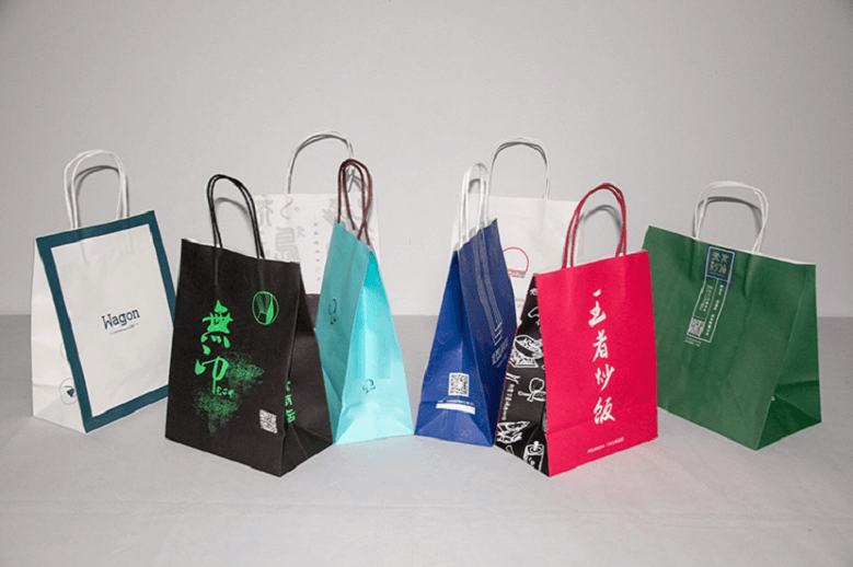 bulk paper promotional bags wholesale supply at Ecoflyn