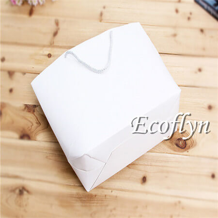 bulk paper shopping bags promotional handle bags supplying-Ecoflyn