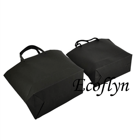 custom black paper shopping bags