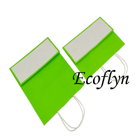 custom green kraft paper bags bulk offer-Ecoflyn