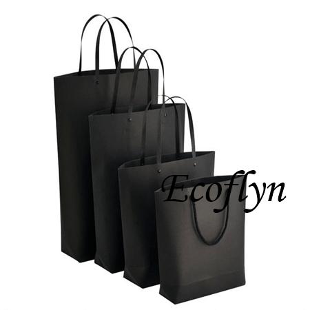 designed black paper shopping bags - Ecoflyn