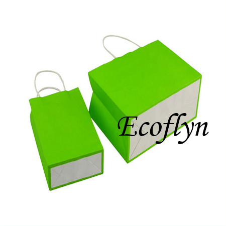 green kraft paper bags wholesale-Ecoflyn