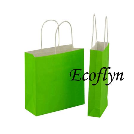 green kraft paper bags