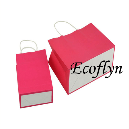 Pink Kraft Paper Bags Gift Bags Low MOQ Supply-get free ...