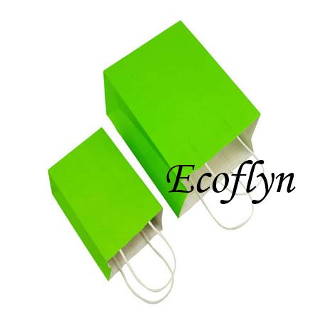 hot green kraft paper bags supply-Ecoflyn