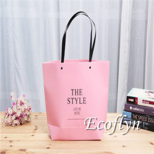 hot pink paper bags bulk supply-Ecoflyn