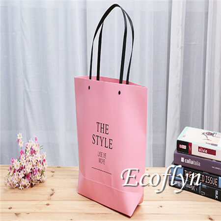 hot pink paper bags
