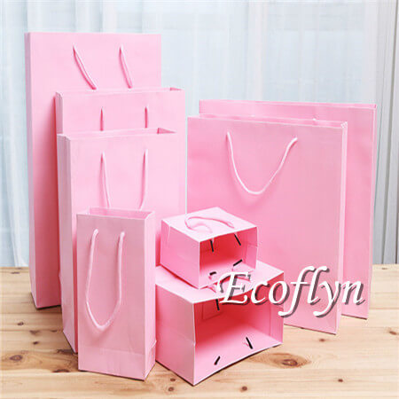 hot pink paper shopping bags bulk offer-Ecoflyn