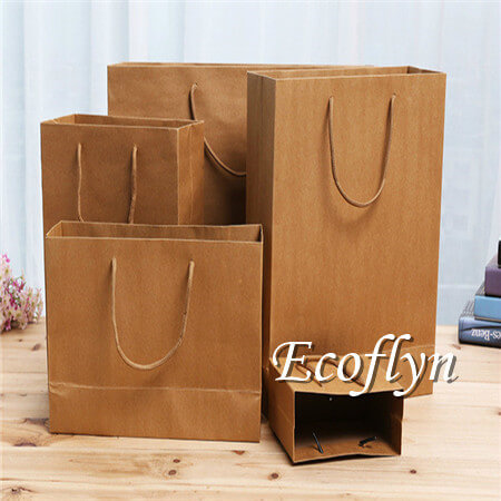 kraft paper shopping bags bulk supply-Ecoflyn