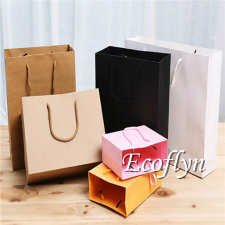 paper shopping bags bulk sale low minimum-Ecoflyn